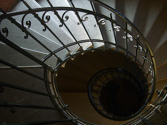 ... Steel Spiral Staircase ...