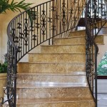 wrought iron residential spiral staircase handrails